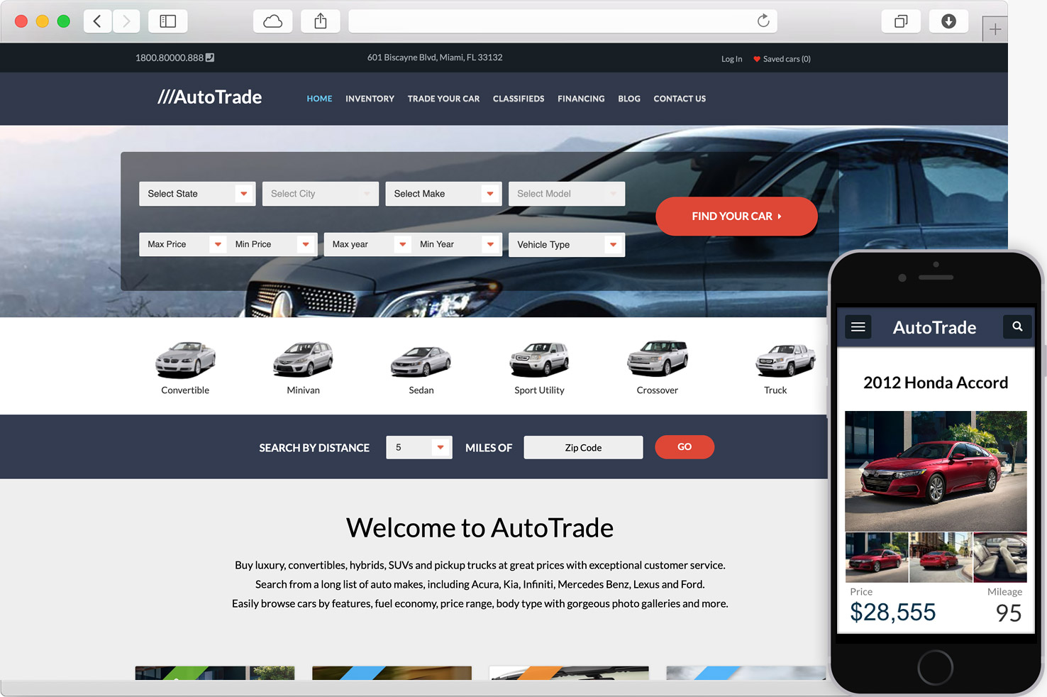 WordPress AutoTrade Car Dealer