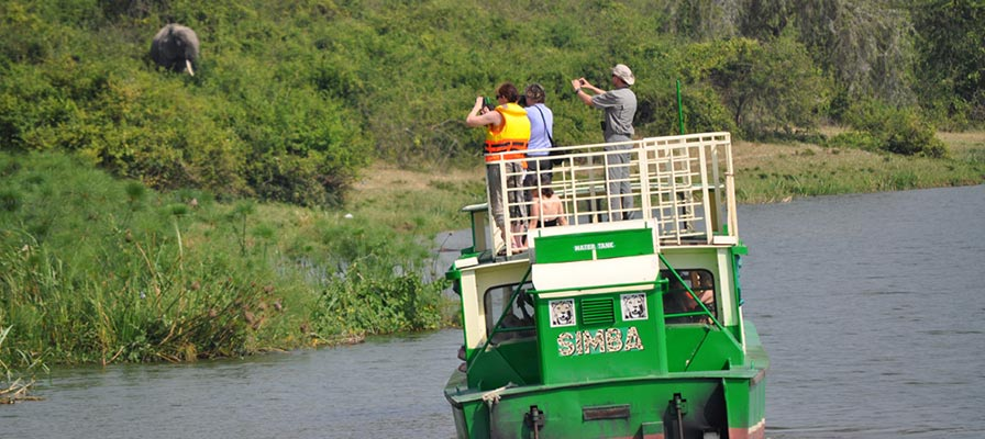 Lion tracking experience in the Kasenyi plains and Boat Launch on Kazinga Channel