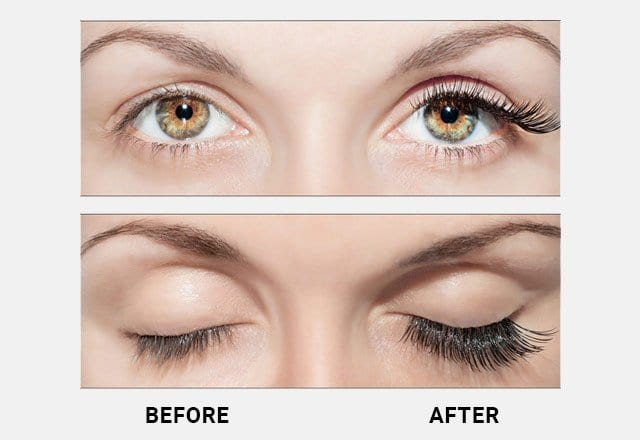 before and after latisse eyelashes