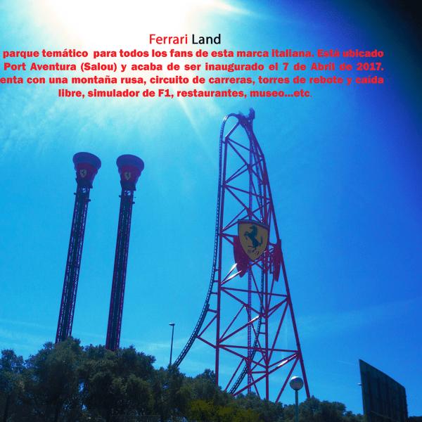 Editar texto en imágenes con PhotoShop CS 6. Foto de Ferrari Land por Gorka Corres.