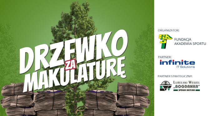 """Wesprzyj Akademię Górnika. Weź udział wakcji """"Drzewko zamakulaturę"""""""
