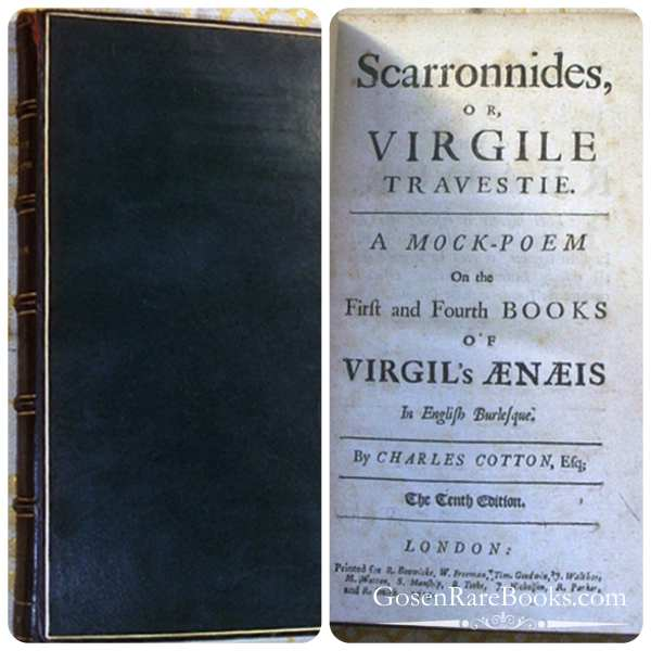 Cotton, Charles, Scarronides, or, Virgile Travestie-1715