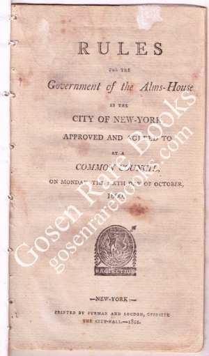 Rules-For-the-Government-of-the-Alms-House-NYC