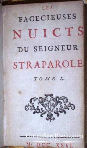 Giovanni Straparola - Les Facecieuses Nuicts du Seigneur Straparole