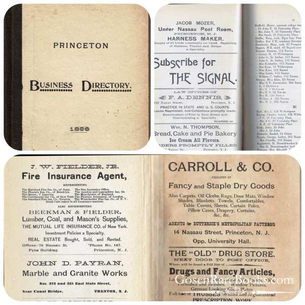 Princeton Business Directory - 1896
