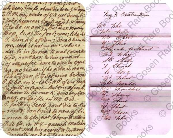 Rev. Timothy Johnes - Manuscript Sermon Given at First Presbyterian Church in Morristown - New Jersey - March 16, 1784