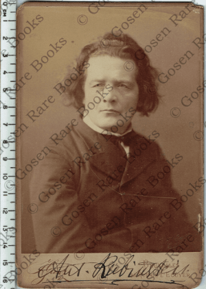 Cabinet Card Photograph | Signed by Anton Rubinstein