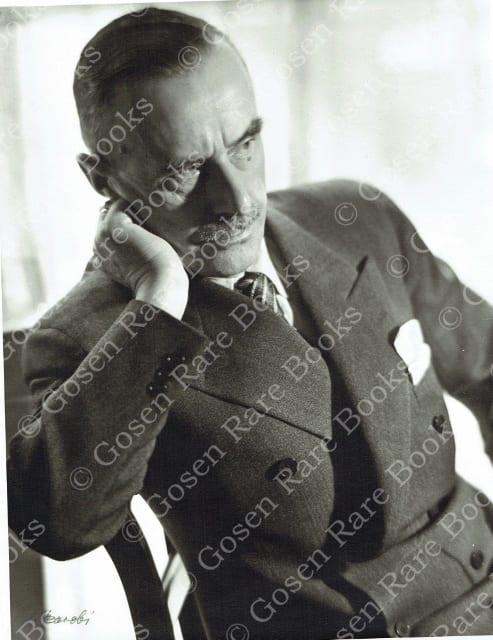 """Lotte Jacobi's """"Thomas Mann, Writer Princeton NJ"""" 1936"""
