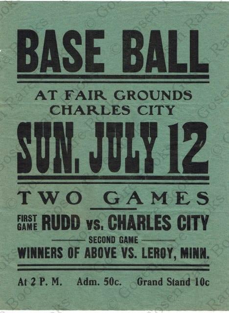Base Ball Broadside July 12th 1874