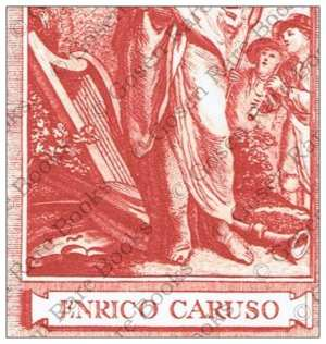 Enrico Caruso's Bookplate Proof Impression