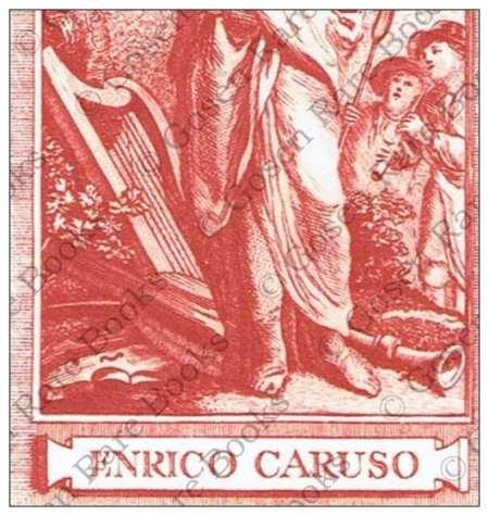 Enrico Caruso's Bookplate Proof Impression