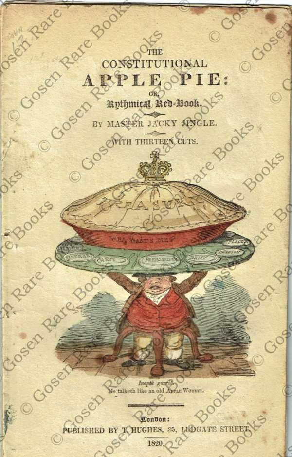 George Cruikshank |The Constitutional Apple Pie | Rhythmical Red-Book By Master Jacky Jingle 1820