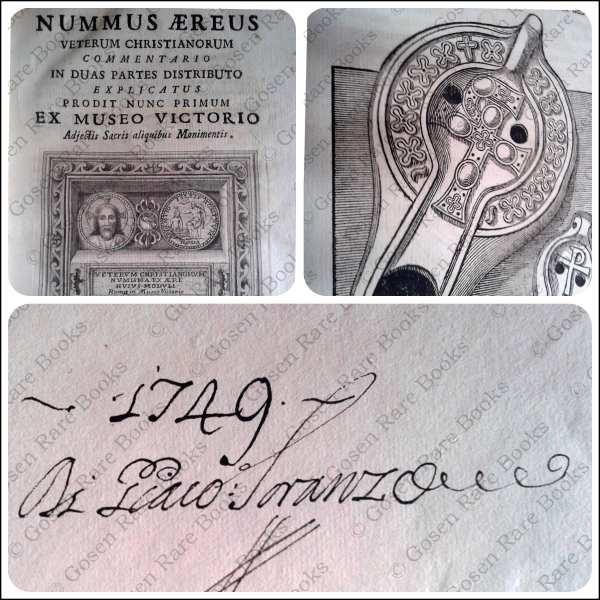 Francesco Vettori NUMMUS AEREUS VETERUM CHRISTIANORUM Signed by Giacomo Soranzo