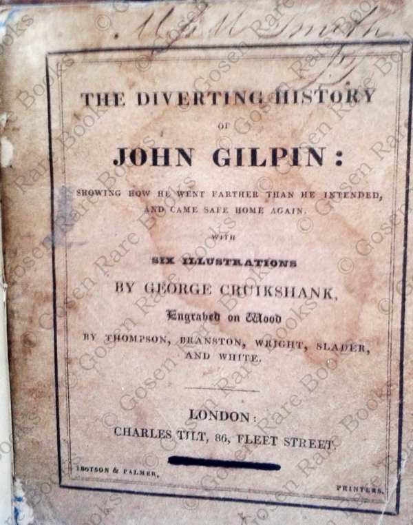 George Cruikshank | Cowper's The Diverting History of John Gilpin 1828