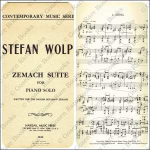 Stefan Wolpe: Zemach Suite for Piano Solo | Written for Dancer Benjamin Zemach 1949
