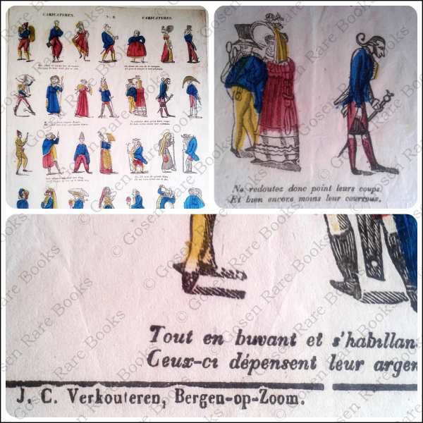 Verkouteren, Broadside | Caricaturen No. 3 Caricatures | Hand-Colored