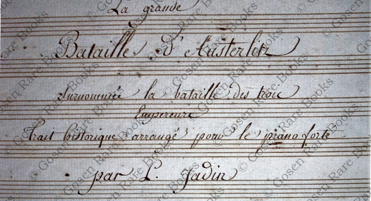 Louis-Emmanuel Jadin Musical Manuscripts Album Containing Seven Unpublished Compositions