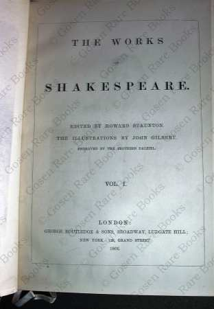 Shakespeare's Works Illustrated by John Gilbert in Six Volumes 1866