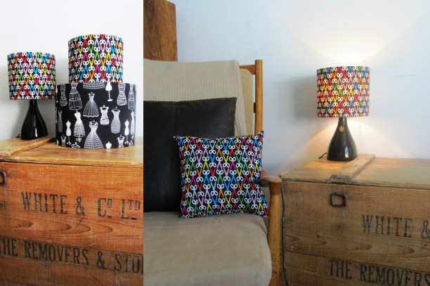 'Cut up your Dresses' lampshades and cushions