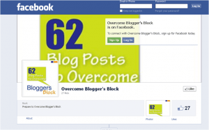 Overcome Blogger's Block Facebook Page