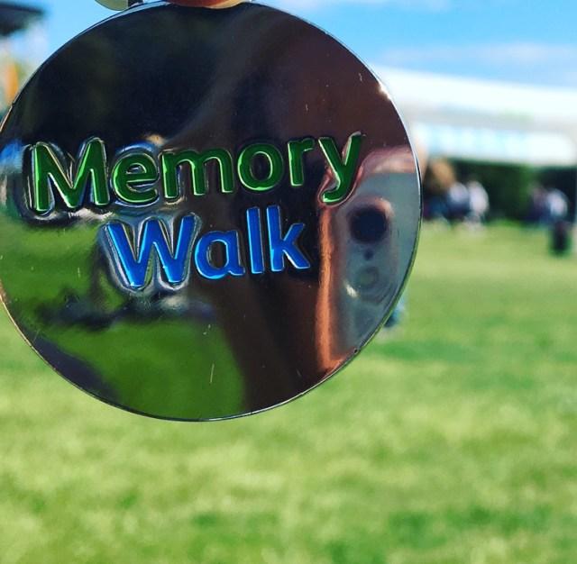 Memory walk medal