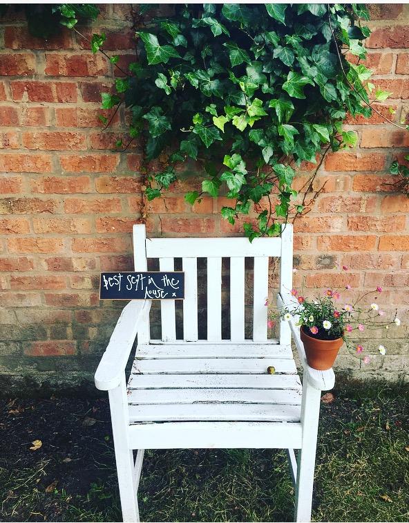 Open gardens chair