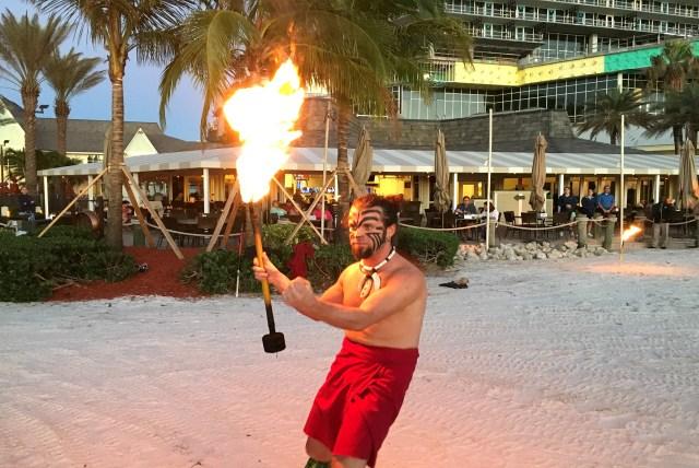 Marco Island Fire Dancer