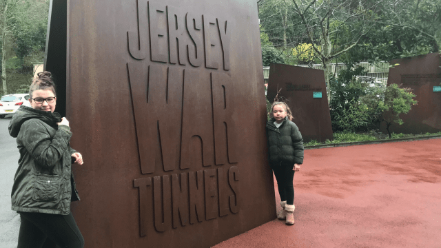 Jersey War Tunnels with the Girls