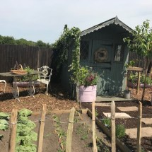 Pop up garden side view