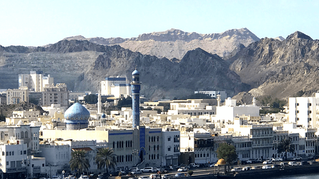 Muscat- the blue mosque