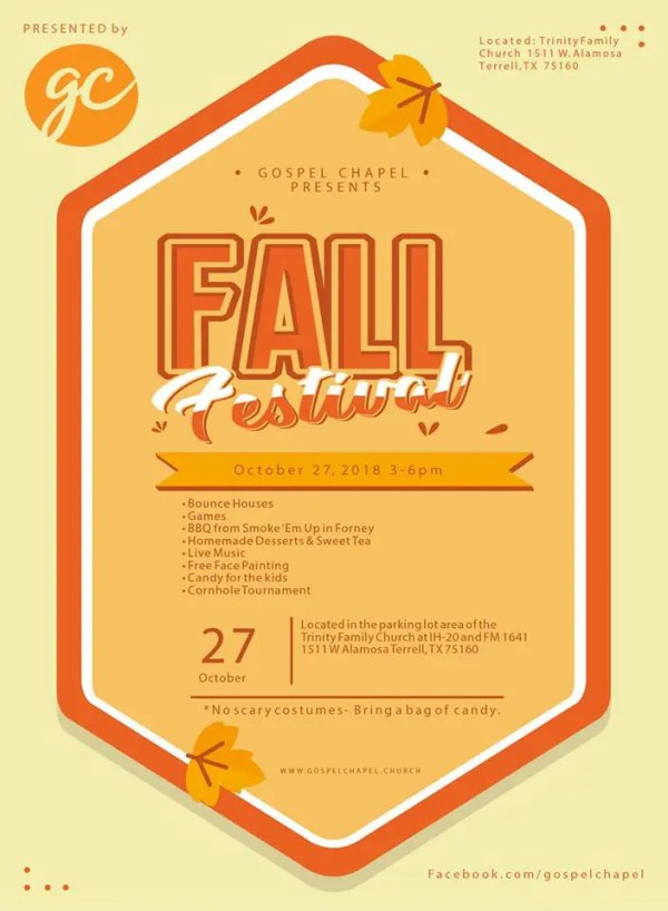 Gospel Chapel Fall Festival 2018