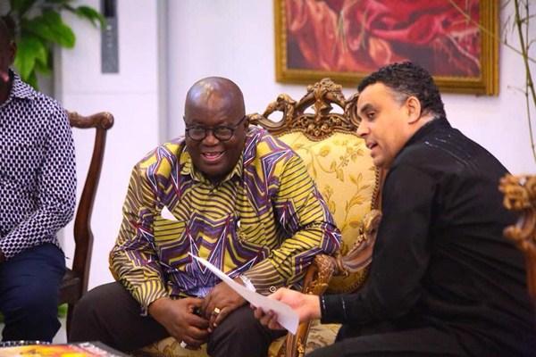 Dag Heward Mills and President Nana Addo Dankwa Akufo-Addo