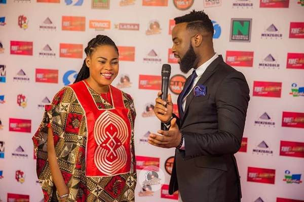 Joyce Blessing at Eko Convention Center, Lagos as Zylofon Media Launched Menzgold and Zylofon media in Grand style