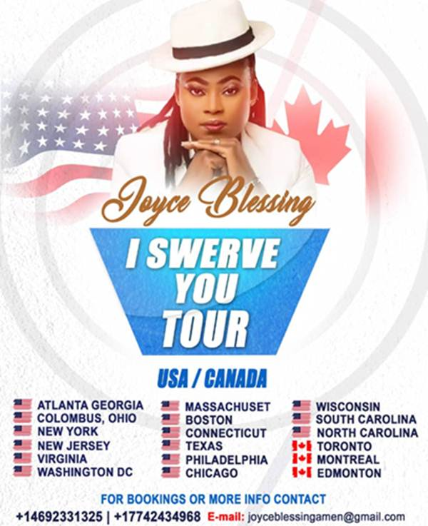 Joyce Blessing Begins US, Canada Tour 2
