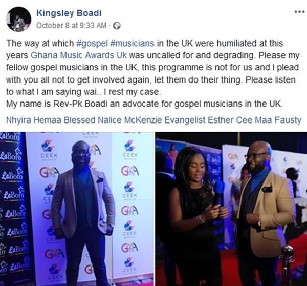 Rev Kingsley Boadi decends on GMA-UK 2018
