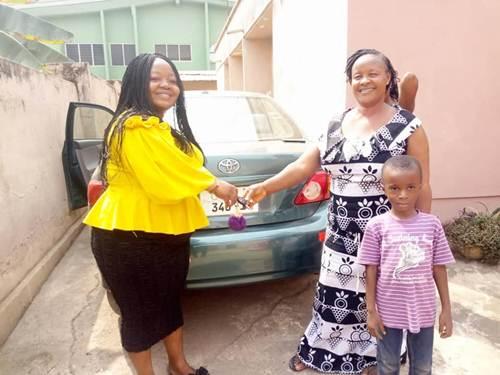 Selina Boateng Gifts Toyota Corolla to mum