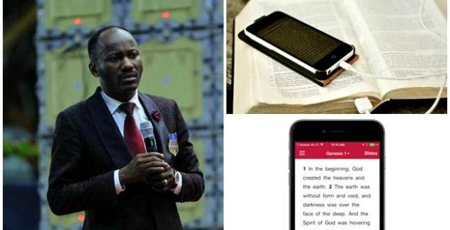 """Phone """"Stop Reading Bible From Phone in Church"""" - Apostle Johnson Suleman"""