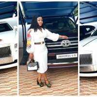 Obofowaa Obofour's Wife Ciara (Obofowaa) Shows off New Customised V8