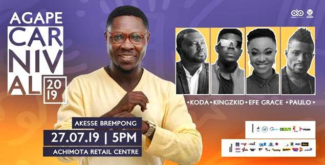Akesse Brempong To Assemble Thousands for Agape Carnival 2019