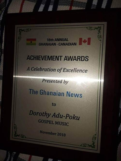 Gospel Singer Dorothy Adu Poku Bags Achievement Award (Throw Back)