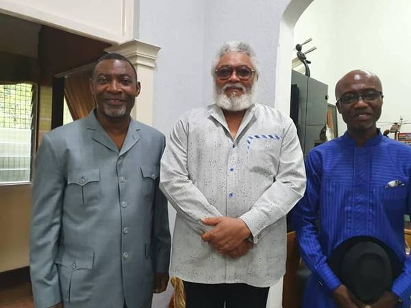 Former President Jerry John Rawlings Celebrates 73rd Birthday with Dr Lawrence Tetteh & Dr Albert Kitcher