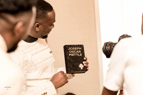 Joe Mettle Ties the Knot With Salomey Selassie Dzisa in White Wedding + PHOTOS