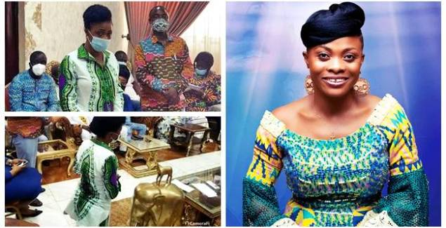 Diana Asamoah Kneels and Begs for Forgiveness From Ga Traditional Council