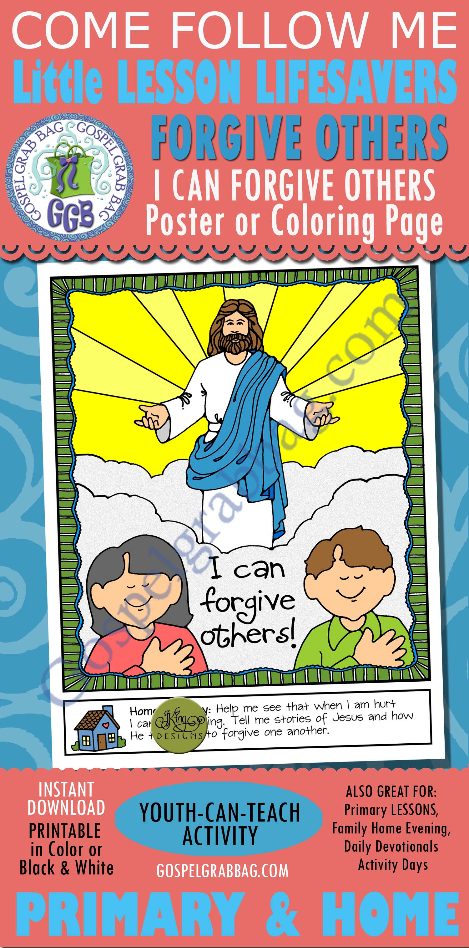 Forgiveness Activity I Can Forgive Others Poster Or Coloring Page For Ages 2 5 Come Follow