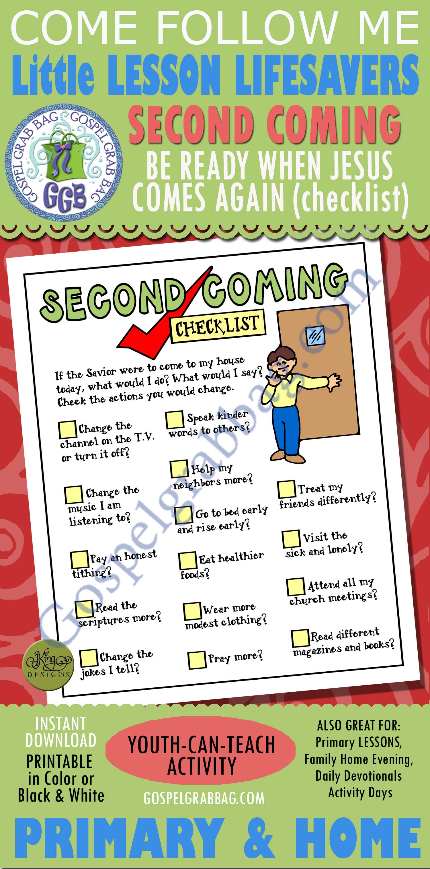 Second Coming Activity Be Ready When Jesus Christ Comes