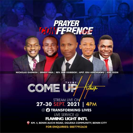 EVENT: Prayer Conference 2021 - Come Up Hither