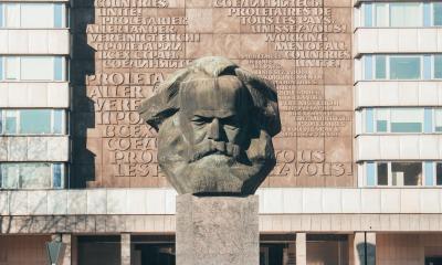 Monumento em homenagem a Karl Marx.