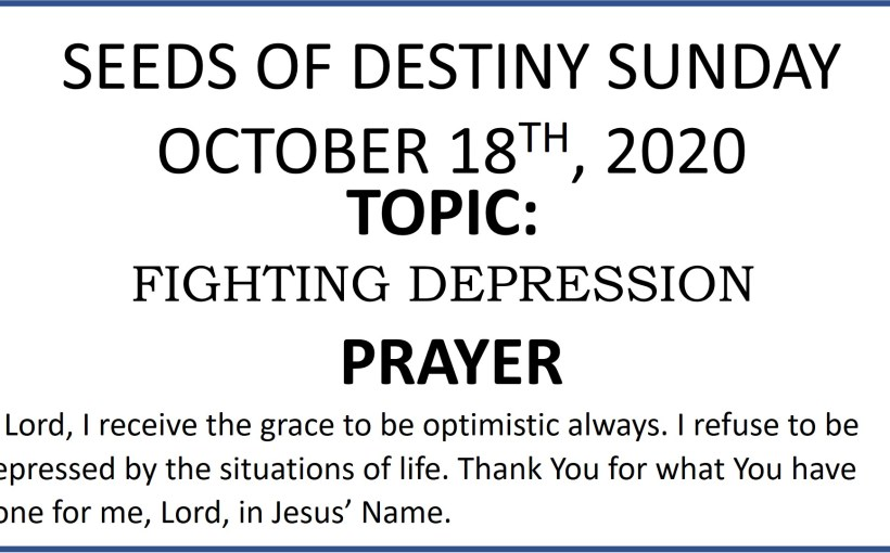 Seeds of Destiny Sunday 18th October 2020 by Dr Paul Enenche