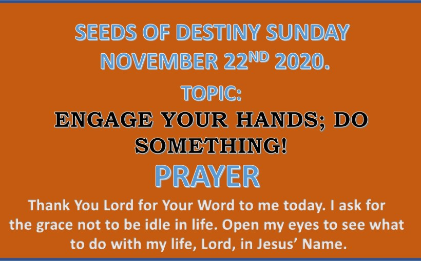 Seeds of Destiny Sunday 22nd November 2020 by Dr Paul Enenche