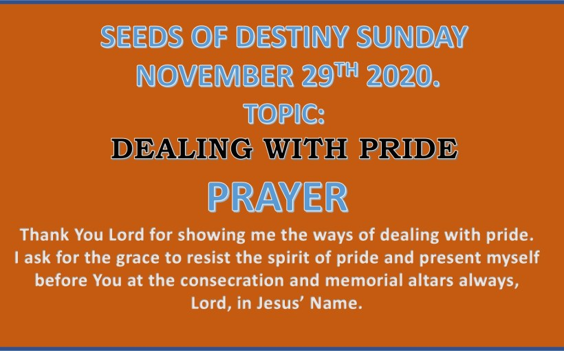 Seeds of Destiny Sunday 29th November 2020 by Dr Paul Enenche